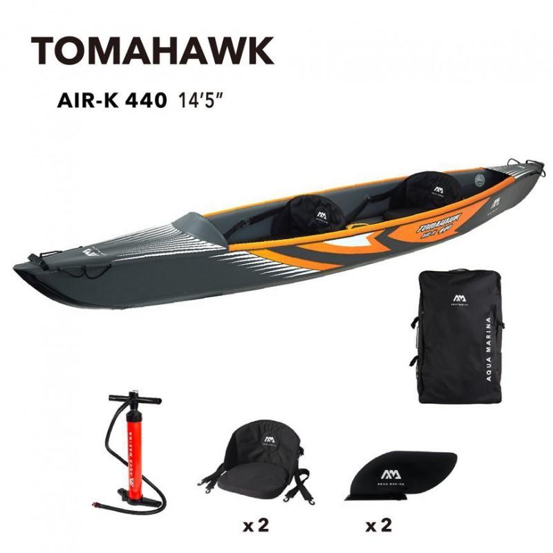 Aqua Marina kajak Tomahawk AirK440 komplet