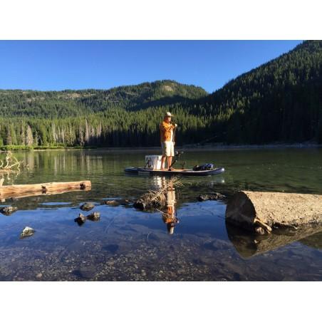 Aquaglide deska iSUP Blackfoot Angler 11' 16230 w akcji 11