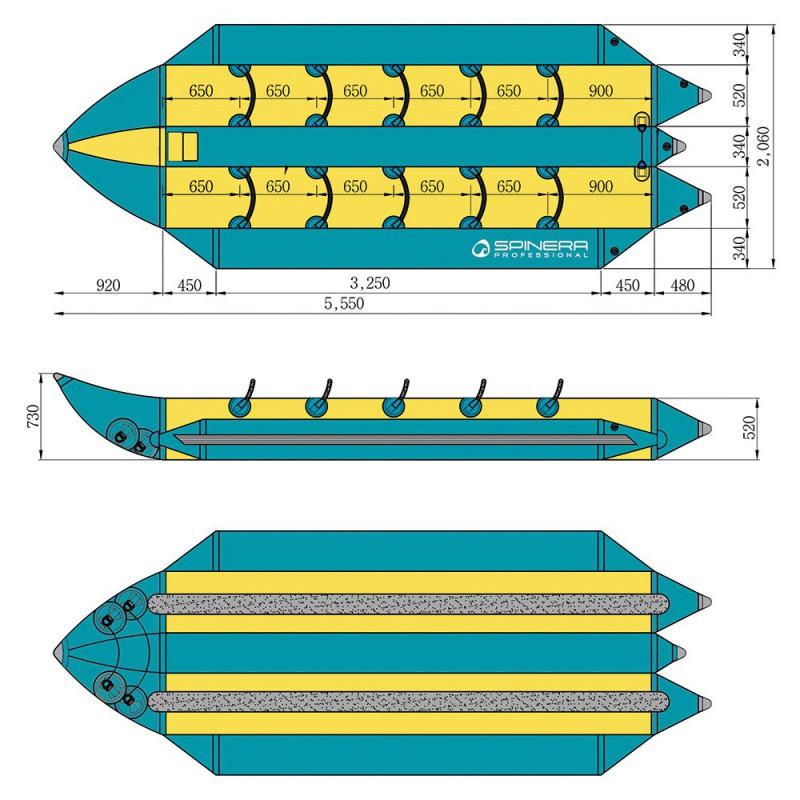 Spinera Professional podwojny banan wodny do holowania Double Multi Rider HD 2x5os 18585